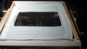 Slat frame after pouch was removed